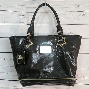 Betsey Johnson Betseyville patent tote bag purse